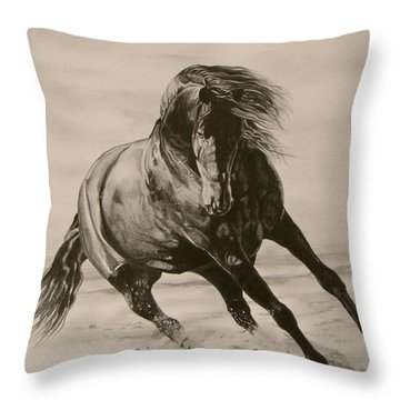 Dancing Pace Throw Pillow by Melita Safran