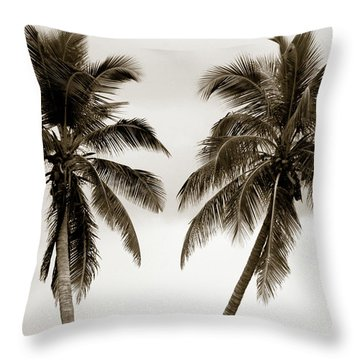 Dancing Palms Throw Pillow by Susanne Van Hulst