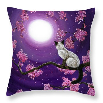 Cherry Blossoms Throw Pillows