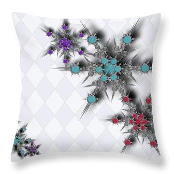 Dancing Snowflakes Throw Pillow