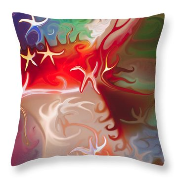 Dancing Stars Throw Pillow