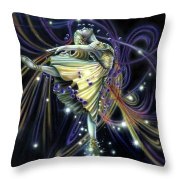 Dancing Stars Throw Pillow