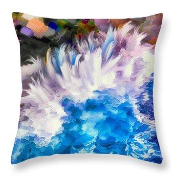 Dancing Swells Throw Pillow