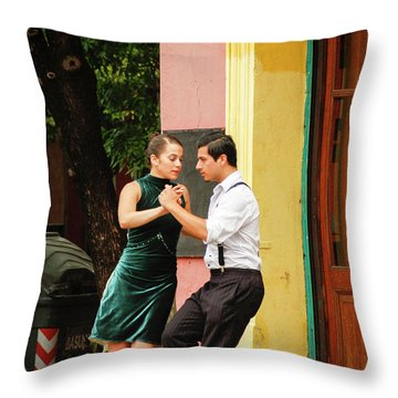 Dancing Tango Throw Pillow