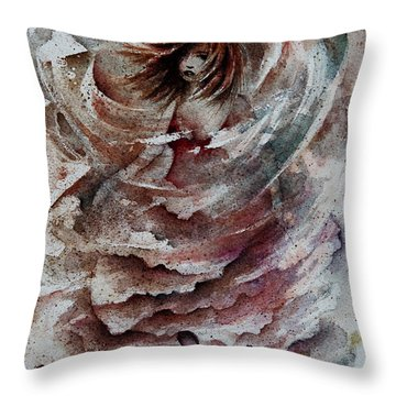 Dancing The Storms Throw Pillow by Rachel Christine Nowicki