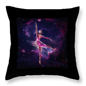 Throw Pillow featuring the digital art Dancing The Universe Into Being 2 by Jane Schnetlage