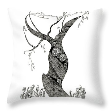 Dancing Tree Throw Pillow