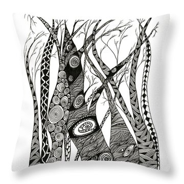 Dancing Trees Throw Pillow