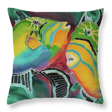 Dancing Triggers Throw Pillow