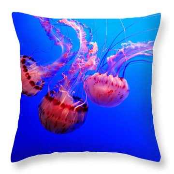 Dancing Trio Throw Pillow