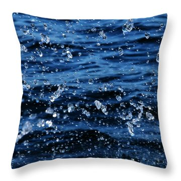 Dancing Water Throw Pillow by Debbie Oppermann