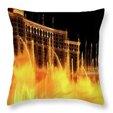 Dancing Water Throw Pillow