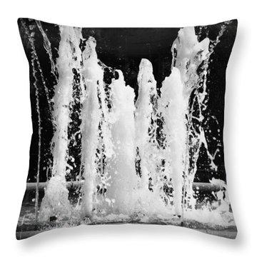 Dancing Waters B/w Throw Pillow