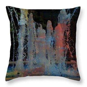 Dancing Waters Kaleidoscope Throw Pillow