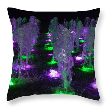 Dancing Waters No 3 Throw Pillow
