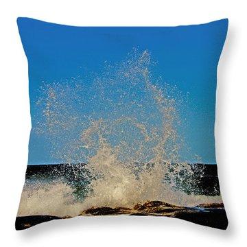 Dancing Waves Throw Pillow by Susan Vineyard