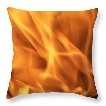 Throw Pillow featuring the photograph Dancing With Fire by Betty Northcutt