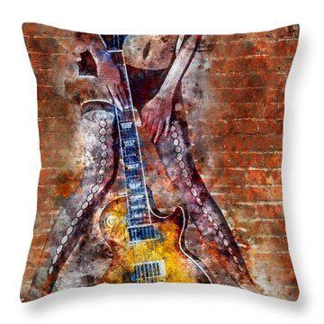 Dancing With Les Paul Throw Pillow