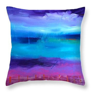 Dancing With The Colours  Throw Pillow