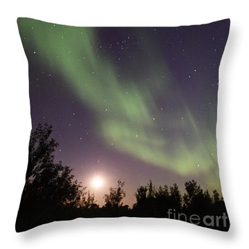 Throw Pillow featuring the photograph Dancing With The Moon by Larry Ricker