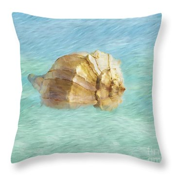 Throw Pillow featuring the photograph Dancing With The Sea by Betty LaRue