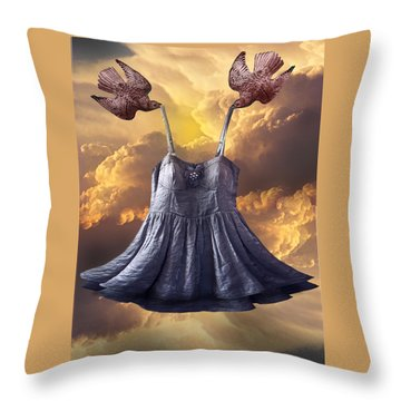 Dancing With The Stars Throw Pillow by Larry Butterworth