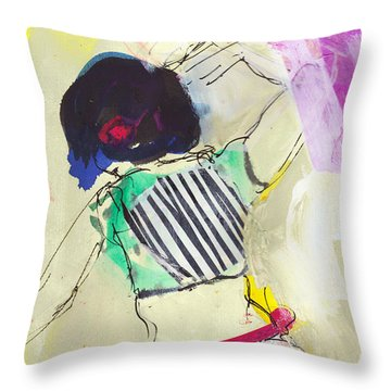 Dancing With Wild Joy Throw Pillow