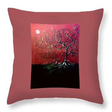 Dancing Wood Throw Pillow