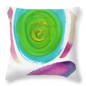 Throw Pillow featuring the painting Dandelion by Bee-Bee Deigner