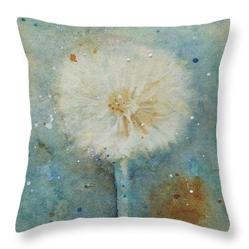 Dandelion Clock 2 Throw Pillow