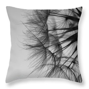 Throw Pillow featuring the photograph Dandelion Close Up by Jan Bickerton