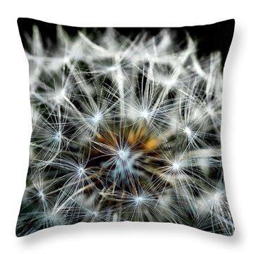 Dandelion Details Throw Pillow