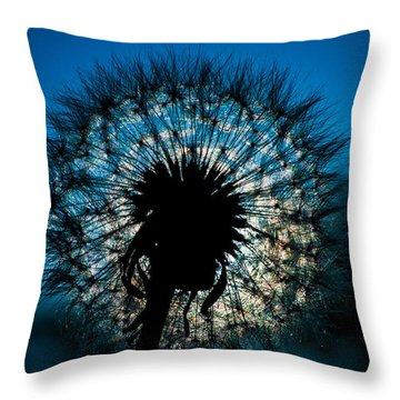 Throw Pillow featuring the photograph Dandelion Dream by Jason Moynihan