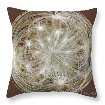 Dandelion Fluff Orb Throw Pillow