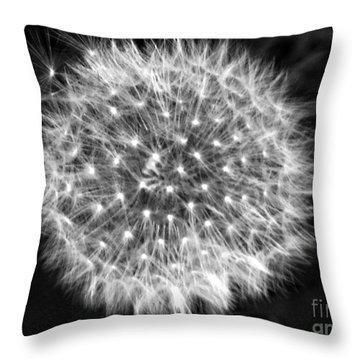 Dandelion Fuzz Throw Pillow
