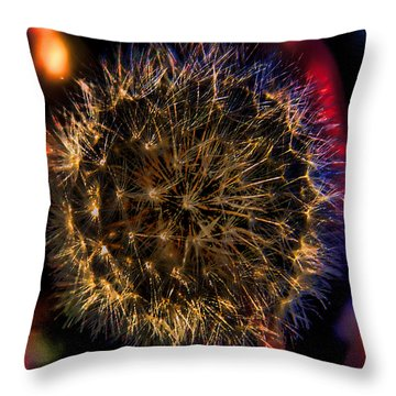 Dandelion II Throw Pillow by David Patterson