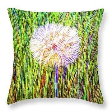 Dandelion In Glory Throw Pillow by Joel Bruce Wallach