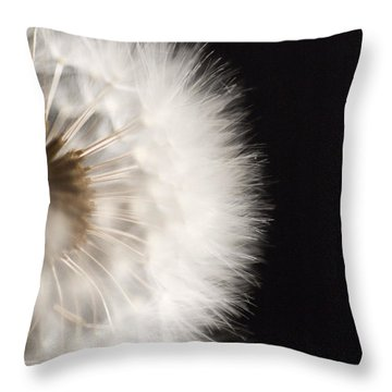 Dandelion In Macro 4 Throw Pillow by Micah May