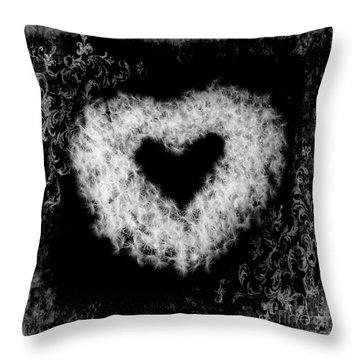 Dandelion Love Throw Pillow by Tamyra Ayles