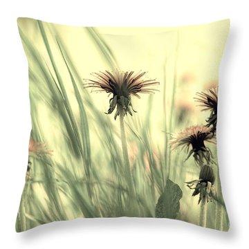 Dandelion Meadow Throw Pillow