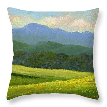 Dandelion Meadows Throw Pillow