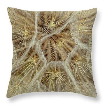 Dandelion Particles Throw Pillow