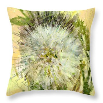 Dandelion Sunshower Throw Pillow