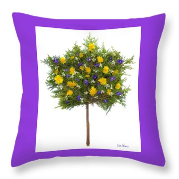 Throw Pillow featuring the photograph Dandelion Violet Tree by Lise Winne