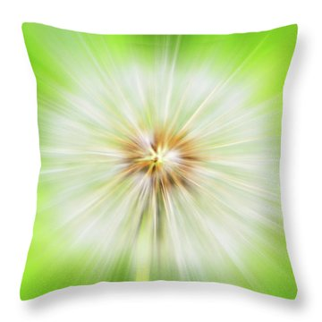 Dandelion Warp Throw Pillow