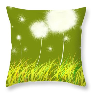 Dandelions Are Free Throw Pillow
