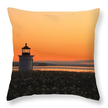 Dandelions At Sunrise Throw Pillow