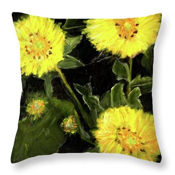 Dandelions By Mary Krupa  Throw Pillow