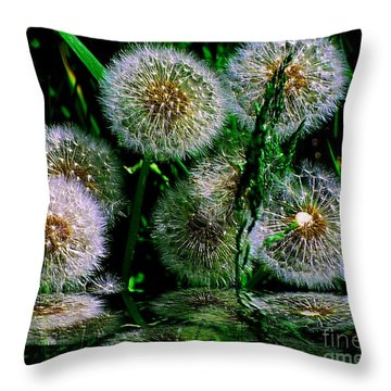 Throw Pillow featuring the photograph Dandies  by Elfriede Fulda