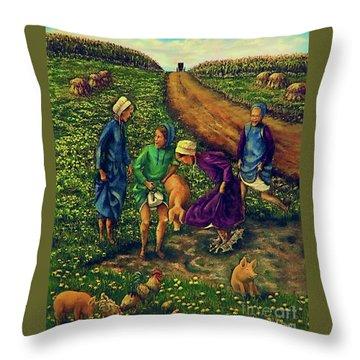 Dandy Day Throw Pillow by Linda Simon